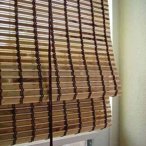 Customized Outdoor Pvc Blinds , Pvc Bamboo Shades Natural Dyed Color
